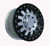 "G T  H1 12 Spoke Simulated Beadlock Hummer Wheel 17"" X 8.5"""